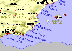 Map Of Spain Airports.Alicante Airport Spain Who Flies There From Where