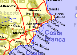 Map Of Spain Alicante Area.Alicante Airport Spain Who Flies There From Where
