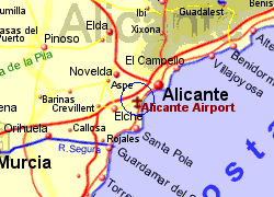 Alicante Airport Spain Who flies there from where