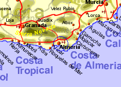Map Of Spain Showing Airports.Almeria Airport Spain Who Flies There From Where