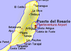 Map Of Fuerteventura Airport Fuerteventura Airport   Who flies there from where