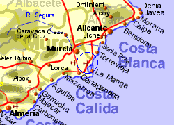Map Of Spain Showing Airports.Murcia Airport Spain Who Flies There From Where
