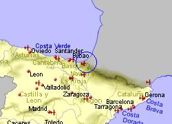 San Sebastian Map Of Spain.San Sebastian Airport Who Flies There From Where