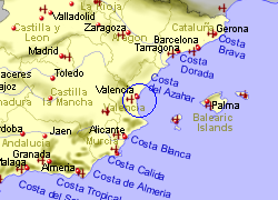 Map Of Spain With Airports.Valencia Airport Spain Who Flies There From Where