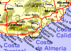 Map of the Albox area, normal view
