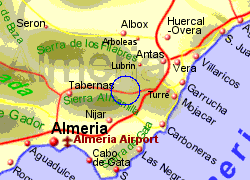Map of the sorbas area, fully zoomed in