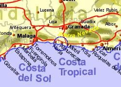 Almunecar Spain Map.Super House Lovely Setting Villa Or House Rental Almunecar