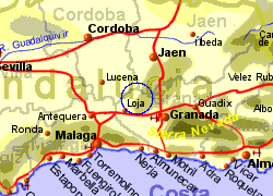 Map of the Montefrio area, normal view
