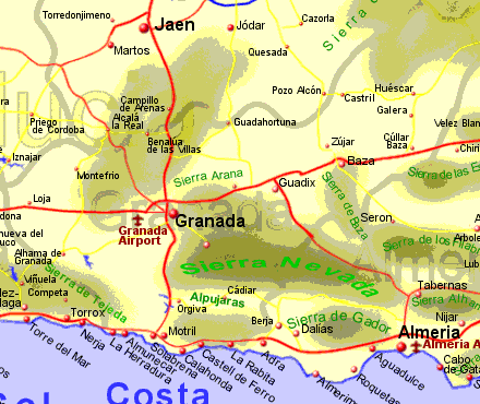 Map Of Spain Provinces. Map of Granada province