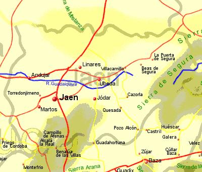 Map Of Spain Jaen.Jaen Province Rentals B B Sales And Travel
