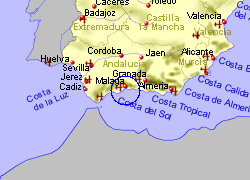 Map of the Alhaurin de la Torre area, fully zoomed out