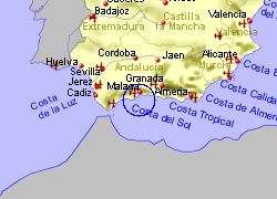Map of the Benalmadena area, fully zoomed out