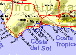 Map of the Benalmadena area, normal view
