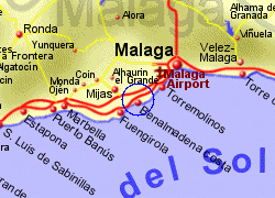 Map of the Benalmadena area, fully zoomed in