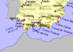 Map of the Comares area, fully zoomed out