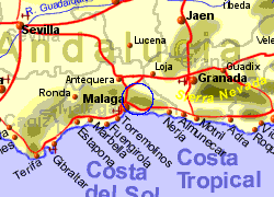 Map of the Comares area, normal view