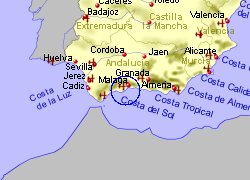 Map of the Mijas area, fully zoomed out