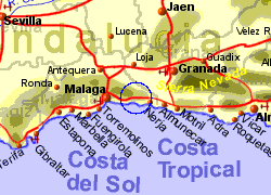 Map of the Sayalonga area, normal view