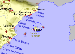 Map of the Pollensa area, fully zoomed out