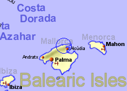 Map of the Pollensa area, normal view