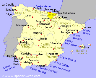 Basque Map Of Spain.Spanish Basque Holiday Rentals B And B Sales And Travel
