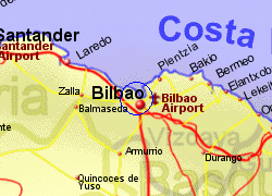 Map of the Bilbao Ferry Port area, fully zoomed in
