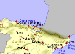 Map of the Lekeitio area, fully zoomed out
