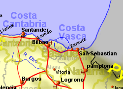 Map of the Lekeitio area, normal view