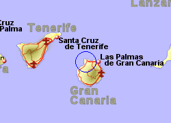 Map of the Agaete Ferry Port area, normal view