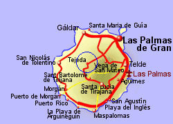 Map of the Tejeda area, fully zoomed in