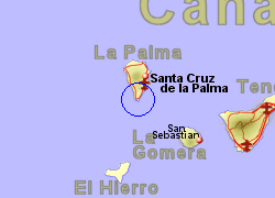 Map of the Fuencaliente area, normal view