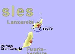 Map of the Puerto del Carmen area, normal view