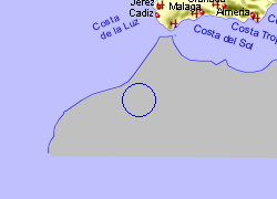 Map of the Icod de los Vinos area, fully zoomed out