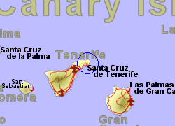 Map of the  area, normal view