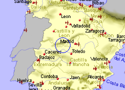 Map Of Spain Mountains.Gredos Mountains Castilla Y Leon Central Spain