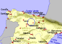 Map of the Castrojeriz area, fully zoomed out