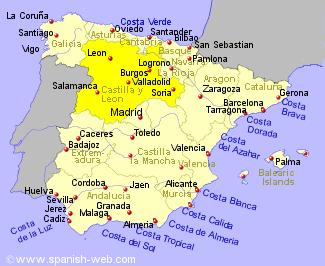 LEON SPAIN MAP - Imsa Kolese
