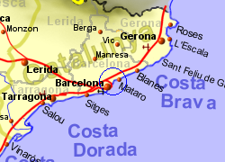 Map Of Spain Near Barcelona.Barcelona Spain Holiday Rentals B B And Sales