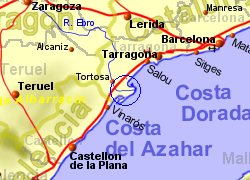 Map Of Spain Ebro River.Ebro Delta Natural Park Tarragona Spain