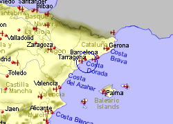 Map of the Salou area, fully zoomed out