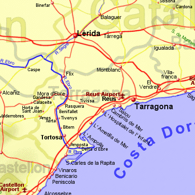 Map Of Spain Reus.Tarragona Province Holiday Rentals B B Sales And Travel