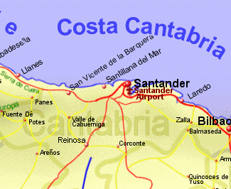 Map of Costa Cantabria