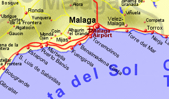 Map Of Spain Showing Costas.Costa Del Sol Spain Map Imsa Kolese