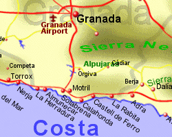 Map of Costa Tropical