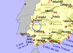 Map of the ZAFRA area, fully zoomed out