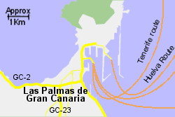Detailed Map of Las Palmas Port