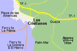Detailed Map of Los Cristianos Port
