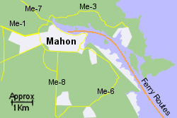 Detailed Map of Mahon Ferry Port