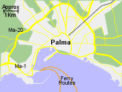 Detailed Map of Palma Ferry Port