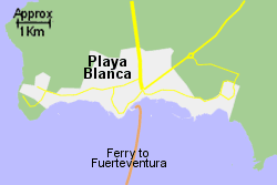 Detailed Map of Playa Blanca Ferry Port